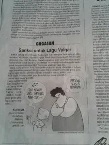 Sanksi untuk Lagu Vulgar - Alhamdulillah Dimuat di Jawa Pos, 3 Juni 2014