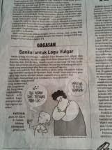 Sanksi untuk Lagu Vulgar (Dimuat di Jawa Pos, 3 Juni 2014)