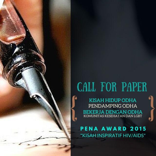 "Pena Awards 2015 ""Menulis Kisah Inspiratif HIV/AIDS"" Deadline 31 Oktober 2015"