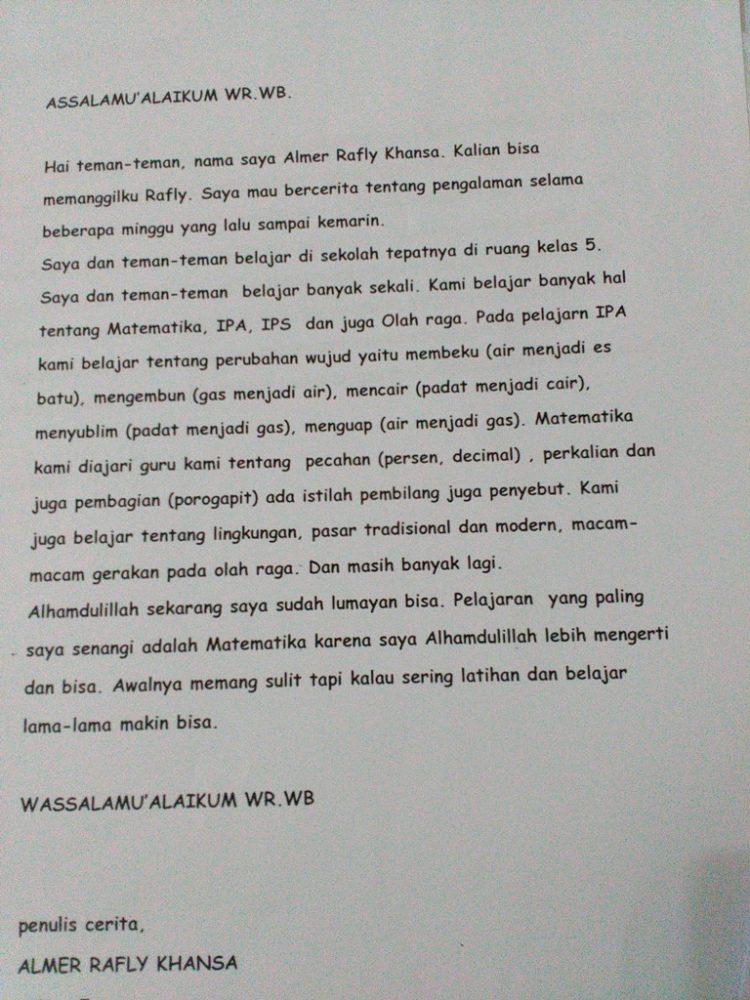 pengalaman menulis bersama guru