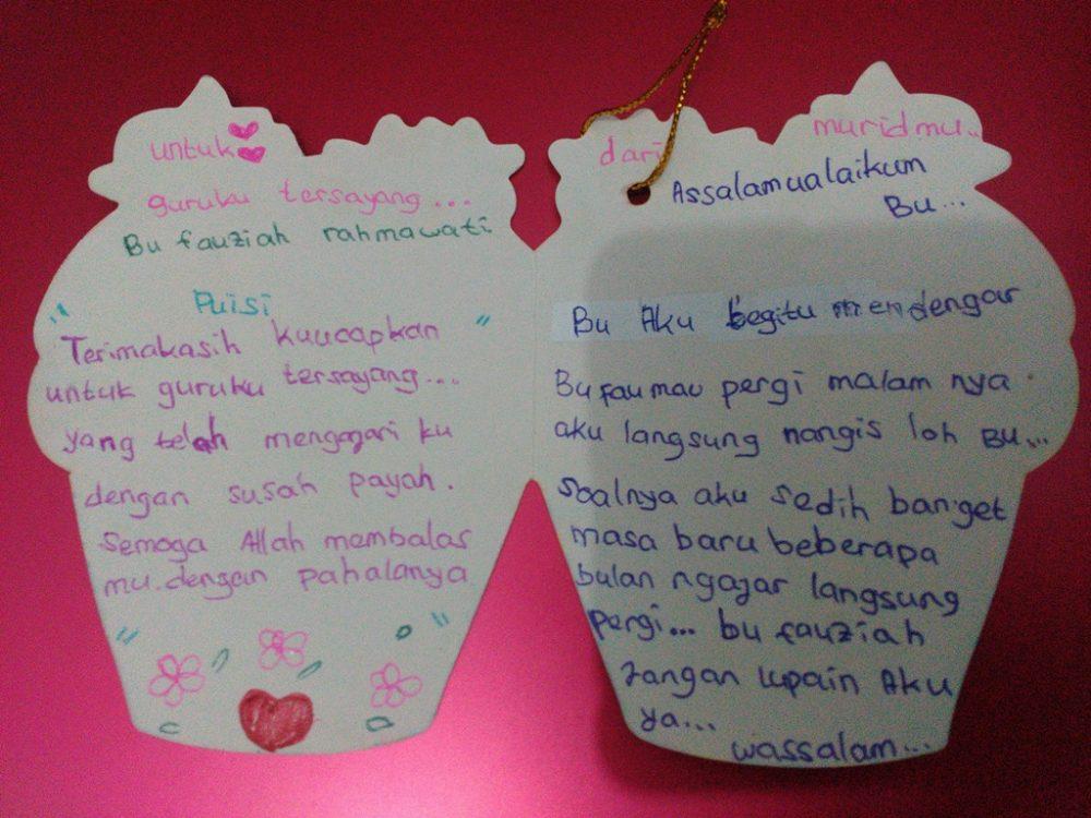 Kartu ucapan dari siswa as salam