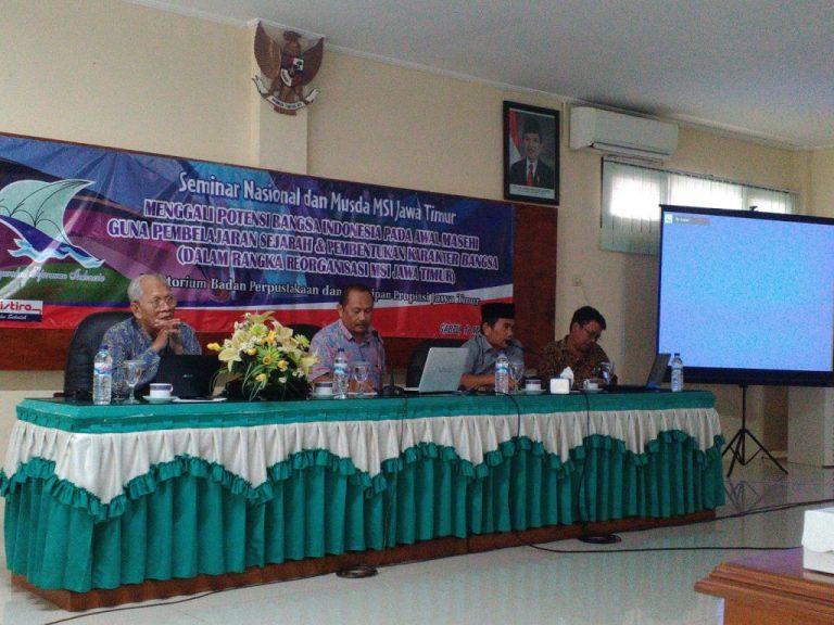 Seminar Nasional dan Musda Masyarakat Sejarah Indonesia (MSI) Jawa Timur