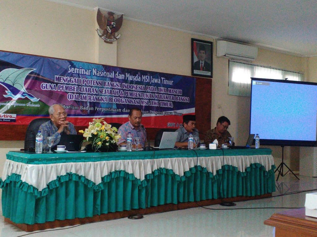 Seminar Nasional dan Musda Masyarakat Sejaran Indonesia (MSI) Jawa Timur