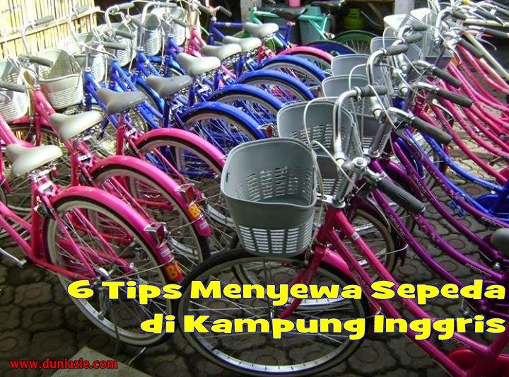 tips menyewa sepeda di Kampung Inggris