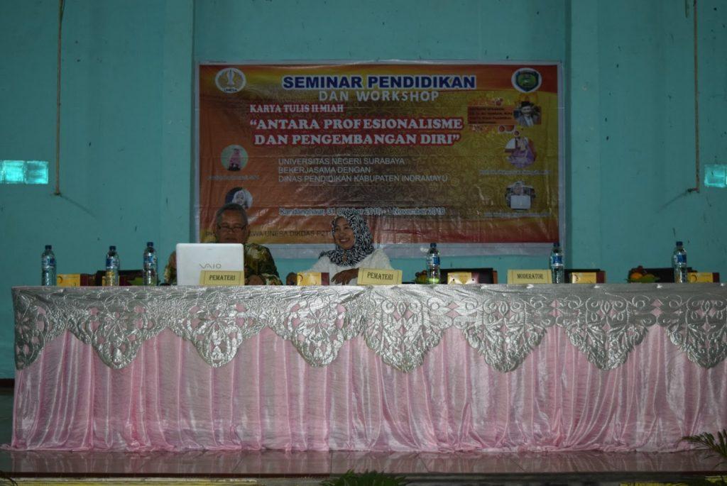 """Seminar Pendidikan dan Workshop  Karya Tulis Ilmiah """"Antara Profesionalisme dan Pengembangan Diri"""""""