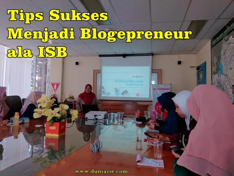 Bloggerpreneur ISB