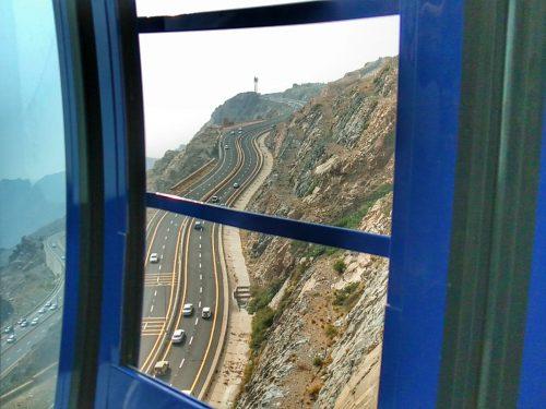 pemandangan dari atas Telefric Thaif